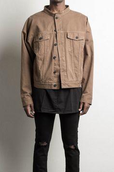 oversized denim jacket in antelope by daniel patrick