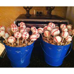 baseball cakepops!!!! batter up!!