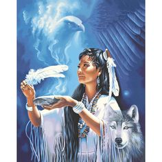 Dimensions 16×20 Paint By Number Kit – Native American Spirit « Blast Groceries
