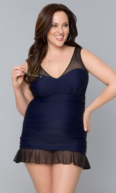 Elevate your swimwear to the next level with our Madison Swimsuit. This fully ruched swimsuit gives you amazing control with a power mesh lining that slims in seconds. A sheer mesh neckline and straps stay thick for better support and lift while the sheer flounce on the bottom of the skirt gives you a little added interest.