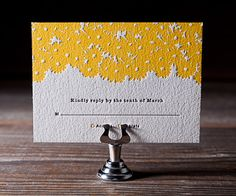 Letterpress Wedding Invitations | Sweet Daisy Design | Bella Figura Letterpress