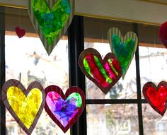 Stained-Glass Window Hearts