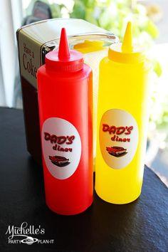 Definitely diner-style condiments