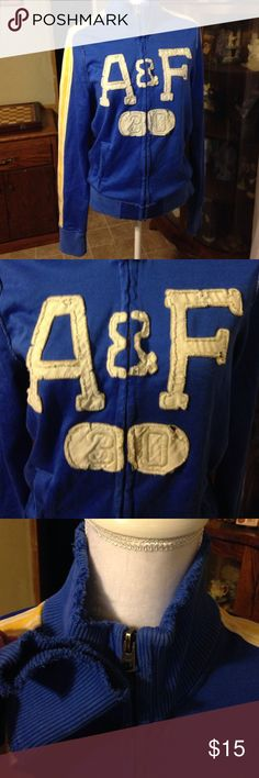 """Abercrombie & Fitch """"muscle"""" jacket  Sz small. Abercrombie & Fitch """"muscle"""" jacket  Sz small.  Worn look on bands and letters. Abercrombie & Fitch Jackets & Coats"""