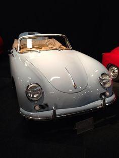 White Porsche 356 Convertible