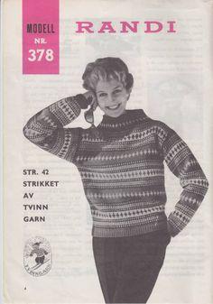 Randi 378 Norwegian Knitting, Jumpers, Women's Fashion, Baseball Cards, Memes, Threading, Scale Model, Fashion Women, Meme