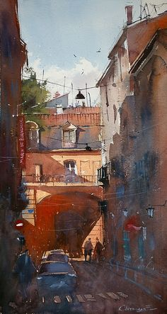BoldBrush Painting Competition Winner - July 2010 | Narrow streets of Bordeaux by Eugen Chisnicean
