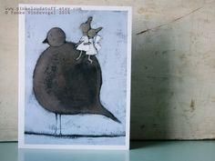 Fly away with me Wenskaart inclusief enveloppe. door PinkCloudStuff
