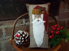 Rustic Country Christmas Santa Shelf Pillow Tuck by rustiquecat, $17.00