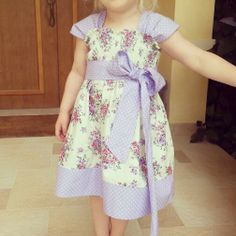 New Tilly Teacup dress by Ginger Baby Patterns. Sewing. Shirring. Dress with sash. Toddler dress.