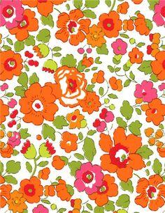 Vu sur www.stragier.com : Liberty Betsy - Mandarine - en pré-vente - disponible fin Mars