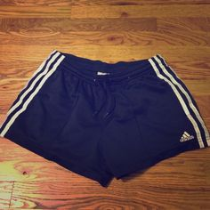 Navy with white stripe active short Navy with white stripe active short Adidas Shorts