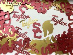 USC Trojans Personalized Graduation Confetti.