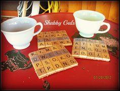 Shabby Gals: Scrabble Coasters