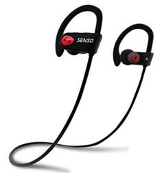 SENSO ActivBuds Bluetooth Headphones, Best Wireless Sports Earphones w/ Mic Waterproof HD Stereo Sweatproof Earbuds for Gym Running Workout 8 Hour Battery Noise Cancelling Headsets (Black/Blue) Cordless Headphones, Best Bluetooth Headphones, Best Earbuds, Sports Headphones, Bluetooth Gadgets, Running Headphones, Tech Gadgets, Top Headphones, El Paso
