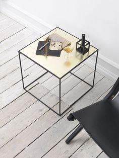 Twin table (by Lassen 2014) in brass/misty green.