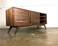 The Keller a mid century modern credenza TV console by MonkeHaus