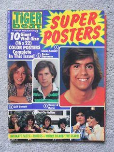 Vintage Tiger Beat Magazines...Shaun Cassidy was my ultimate favorite! (Ta do run, run, run ta do run run) Tiger Beat Magazine had all the cool posters.