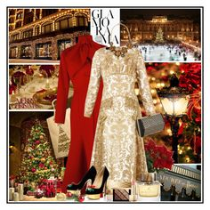 """""""Christmas in London"""" by manicurelover ❤ liked on Polyvore featuring Burberry, Vika Gazinskaya, Pier 1 Imports, J.Crew, Charlotte Olympia and Alexander McQueen"""