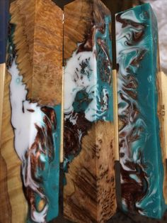 Wood Turning Projects, Projects To Try, Stabilized Wood, Wood Tiles, Pen Blanks, Pen Turning, Resin Casting, Knife Making, Knifes