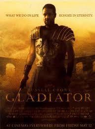 Gladiator. Dura. Peliculón. Sale del molde al que estábamos acostumbrados a ver pelis de romanos.