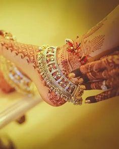 Indian Wedding, Wedding Ceremony, Bride, Bridal Jewellery, Traditional Jewellery, Rajasthani Jewellery, Hand Jewellery, Pearl Studded, Rajput bride, Payal, foot jewellery Payal Designs Silver, Silver Anklets Designs, Silver Payal, Modern Mehndi Designs, Anklet Designs, Bridal Mehndi Designs, Necklace Designs, Gold Designs, Manubhai Jewellers