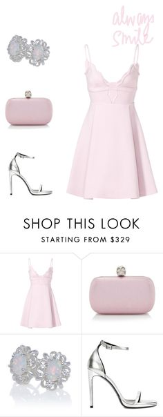 """Always smile"" by fashionablylateky ❤ liked on Polyvore featuring Giambattista Valli, Alexander McQueen and Yves Saint Laurent"