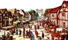 Feudal System, Medieval Market, Urban Setting, Urban Life, North Africa, Roman Empire, Middle Ages, Countryside, Concept Art