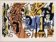 The two women, two sisters - Fernand Leger