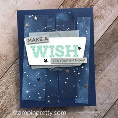 Create a simple birthday card using Stampin Up Broadway Birthday stamp set - Mary Fish StampinUp Ideas