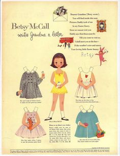 I remember my mom letting me cut the Betsy McCall page from her McCall's magazine.