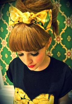 Daffodil Summer Yellow Print Headband