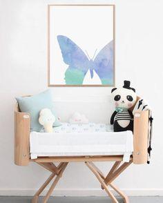 Butterfly nursery kids prints poster printable by FarfallaByNan