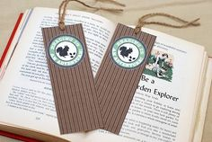 Free Printable Woodland Animal Bookmark by B.Nute productions