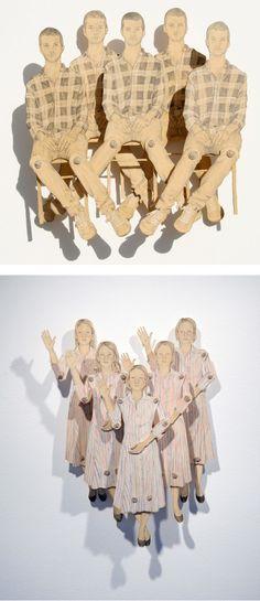 Claire Oswalt - paper dolls  #art  #design