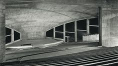 Interior of the Auditorium Maximum (1957-58) of Hamburg University, Germany, by Bernhard Hermkes