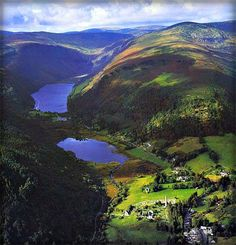 Beautiful Glendalough, Co Wicklow-Glen of the two lakes. before the arrival of Saint Kevin, this glen would have been desolate and remote, ideal for a secluded retreat.