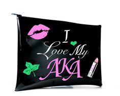 I Love My AKA Lipstick Kiss Clutch   Tech Tablet Bag Aka Sorority, Alpha  Kappa f2f1cf5a8d