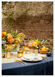 Exotic traveler tablescape - so colorful.