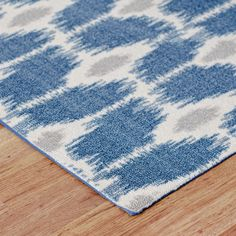 Shop Wayfair for Mercury Row Iris Area Rug in Navy - Great Deals on all Decor products with the best selection to choose from!