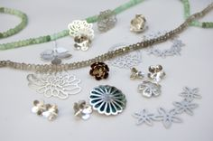 Collection of handmade jewellery samples from a previous range. http://simonewalsh.com #handmade #jewellery