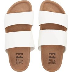 Billabong Women's Shore Thing Sandals (645 ZAR) ❤ liked on Polyvore featuring shoes, sandals, footwear, white, billabong sandals, woven shoes, braided sandals, white shoes and white slip on shoes