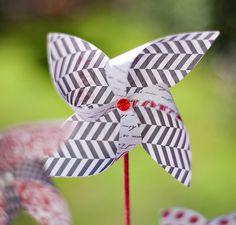 DIY: Paper Pinwheels & Candy Centerpiece