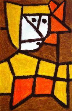 'frau in bauer kleid', papier von Paul Klee (1879-1940, Switzerland)