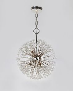 Dandelion Chandelier - Shown in Duquette Nickel. Way too rich for me, but creative and lovely!