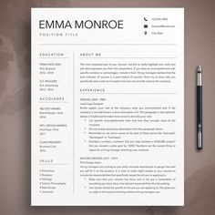 Modern Resume Template, Creative Resume Templates, Cv Template, Microsoft Word, Icon Set, Teacher Cover Letter Example, Have You Ever Questions, Thank You Letter, Layout