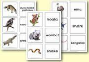 Matching Cards - Animals - Australian