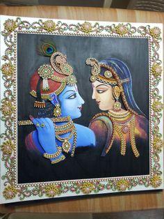 Discover thousands of images about Ornamental Radha-Krishna Ganesha Painting, Madhubani Painting, Kalamkari Painting, Mural Painting, Mural Art, Murals, Krishna Art, Radhe Krishna, Krishna Drawing