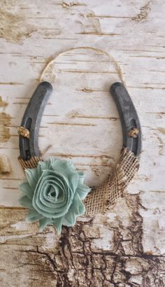 Shabby Chic Horseshoe, Burlap and Sage Green Flower, Wedding Gift, Housewarming Gift, Western Wall Hanging, Good Luck Horseshoe by SRVintageandDesigns on Etsy https://www.etsy.com/listing/224494505/shabby-chic-horseshoe-burlap-and-sage