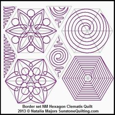 Block set NM Hexagon Clematis Quilt